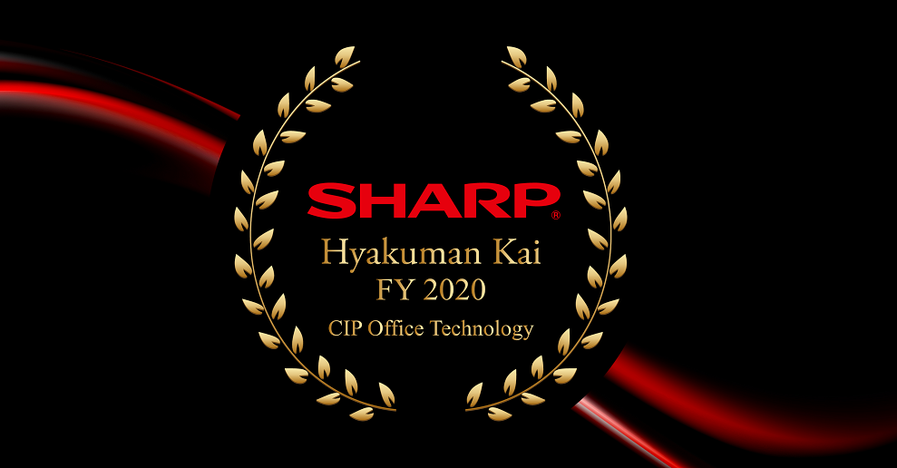 Sharp Electronics of Canada has recognized CIP Office Technology, Calgary, as a Hyakuman Kai Dealer for the fiscal year 2020
