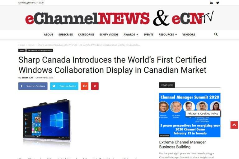 Windows Collaboration Display Featured on eChannelNews